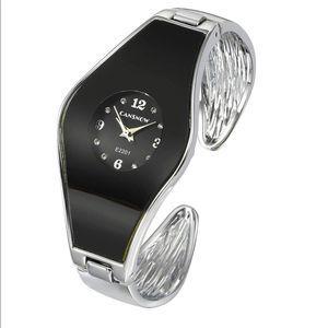 NWOT | Silver Analog Quartz Cuff Wrist Watch